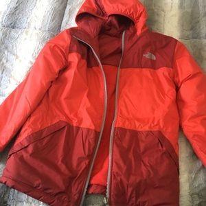 Boys Northface reversible coat